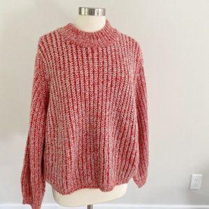 NWT BP Chunky knit mock neck red sweater Large